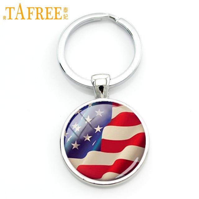 Tafree American Flag Keychain Charm Stars And Stripes Usa Flag