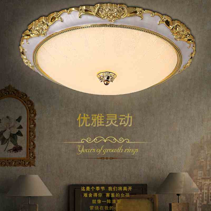 LED European style ceiling lamp wedding room bedroom light warm garden shape Jane European living room lights balcony CL FG386