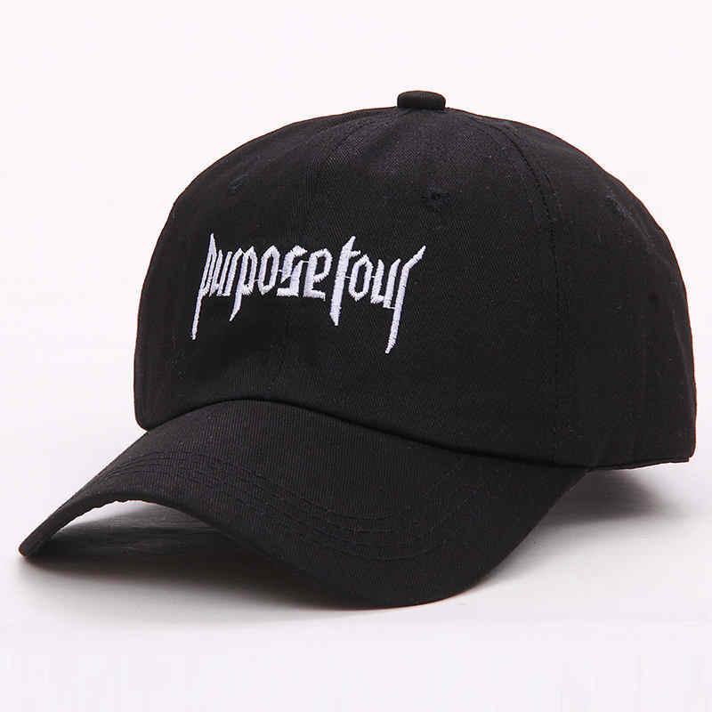 ef8b0c3a78453 ... Star Justin Bieber Purpose Tour Baseball Cap Vintage Streetwear Rap Hat  Adjustable Black White for Women ...