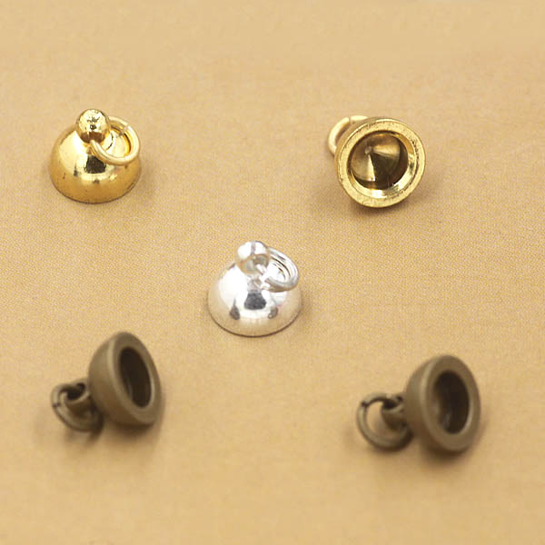 wiring bell caps 5mm bead cap cup bell end bails with a loop end cap beads ...