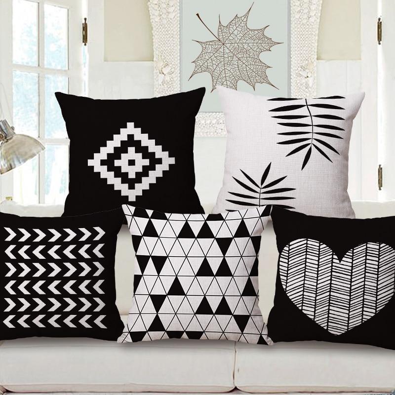Aliexpress.com : Buy nordic decorative pillows case black
