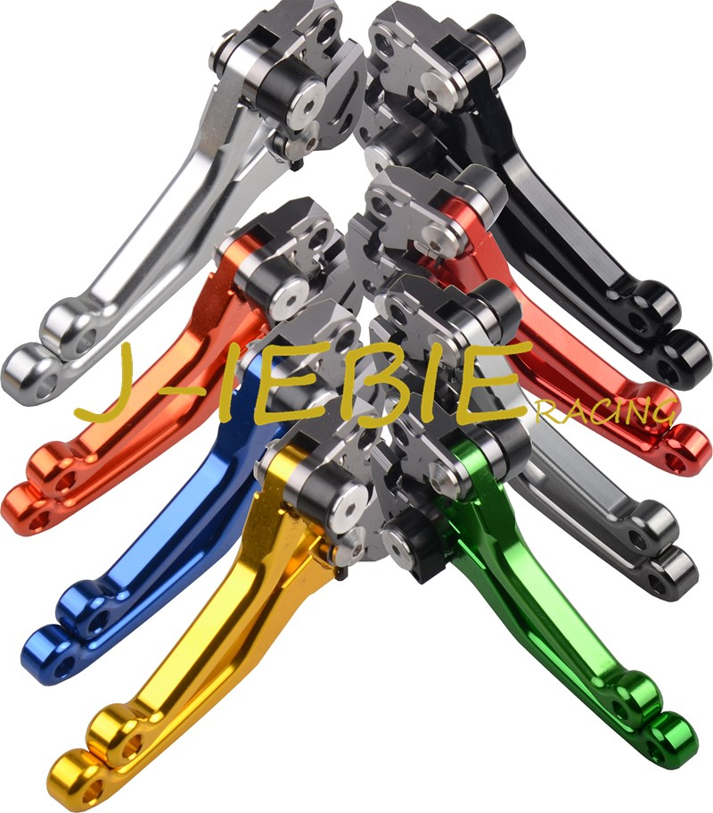 Pârghii de ambreiaj pivotante pivotante CNC pentru Kawasaki KX250F / KX450F 13-17 Yamaha YZ125 / 250 08-14 YZ250F 07-08 YZ426F / 450F 08