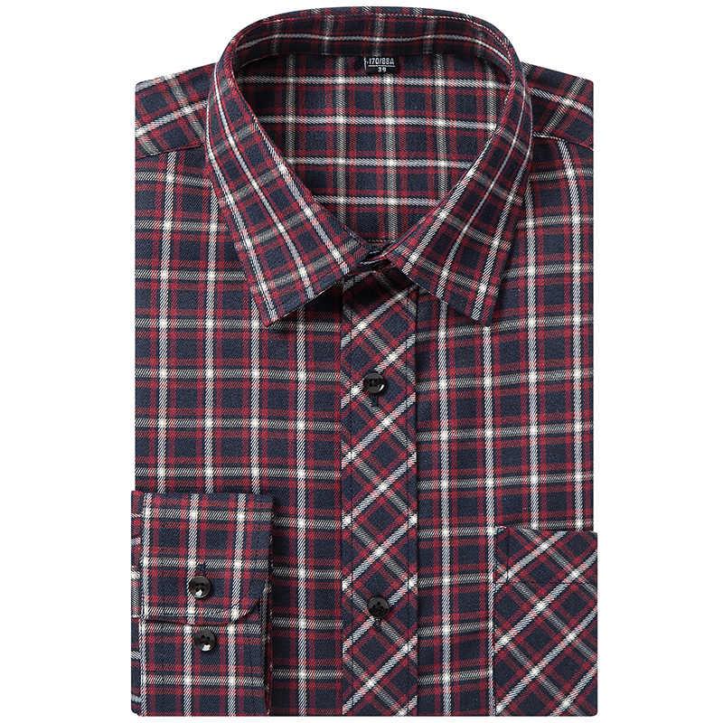 MACROSEA Новое поступление мужские Весна Осень Повседневные клетчатые рубашки мужские с отложным воротником рубашка для мужчин Умные повседневные рубашки QS