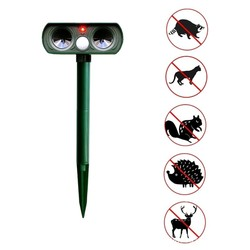 Outdoor Solar Power Ultrasonic Animal Repellent Deterrent Dog/Cat/Bird/Mole PIR Motion Pest Animal Repeller