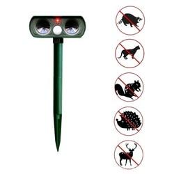 Outdoor Solar Power Ultrasonic Animal Repellent Deterrent Dog/Cat/Bird/Mole PIR Motion Pest Animal Repeller