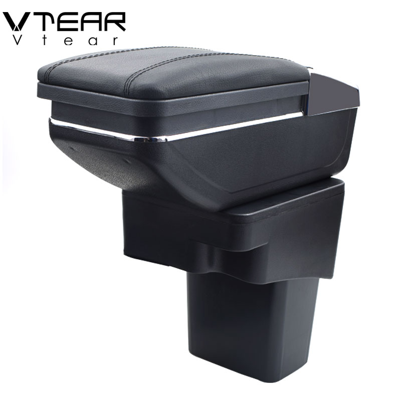 Vtear For Hyundai Solaris Verna Grand Avega armrest box central Store content box with cup holder