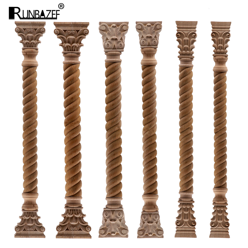 RUNBAZEF Cabinet Wood Carved Applique Decal Frame Onlay Furniture Decoration Accessory Vintage Home Decor Cabinet Door Craft