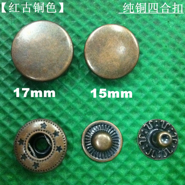 Pack of 35 pcs Metal No Sewing Press Studs Buttons Snap Fastener 4#  15mm