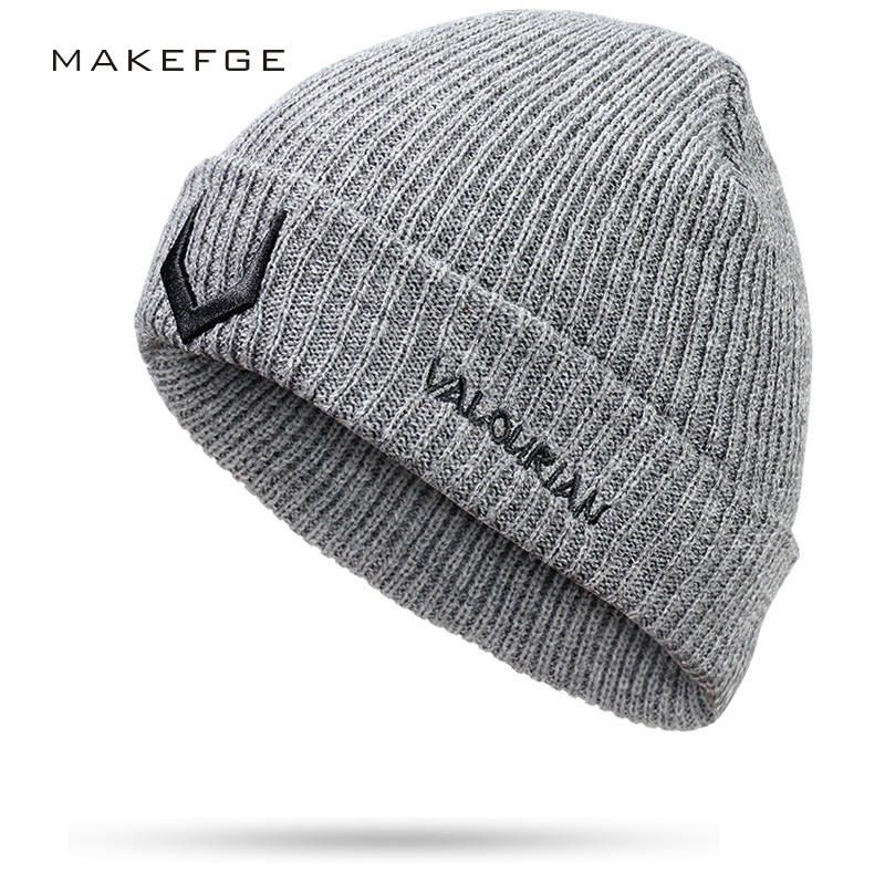 2018 new Winter Hat For Men Women   Skullies     Beanies   Womens Fashion Warm Cap Unisex Elasticity Knit   Beanie   Hats Knitted Hat