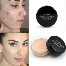 Popfeel Women Face Makeup Hide Blemish Concealer Contouring Corretivo Maquiagem Cream Perfect Cover Makeup Concealer Beauty Tool(China)