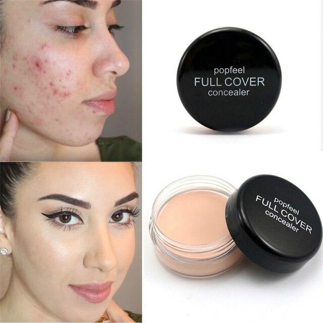 Popfeel las mujeres maquillaje ocultar imperfecciones corrector contorno Corretivo Maquiagem crema cubierta perfecta maquillaje corrector herramienta de belleza