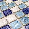 Light Blue Polished Porcelain Ceramic Tiles Mosaic Kitchen Backsplashl Tile Bathroom Floor Tiles Ceramic Wall Tiles