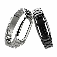 For Xiaomi Mi Band 2 Magnet Stainless Steel Luxury Wrist Strap Metal Wristband 14 21CM Futural