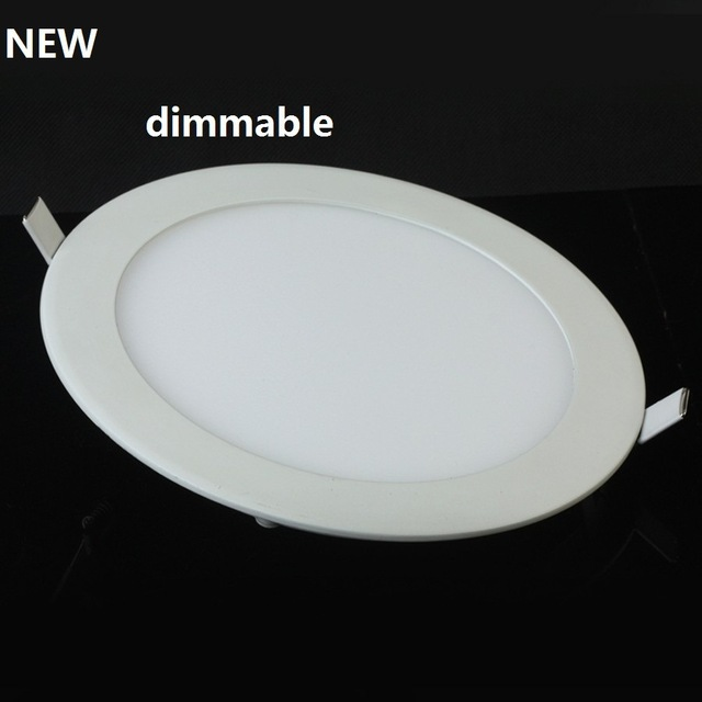 Dimmable LED Downlight Ultra thin recessed led ceiling panel light with driver AC85-265V Warm White Natural White Cold White 10pcs lot dimmable led downlight 20w 30w ac85 265v very bright led cob chip canister light embedded ceiling white warm white