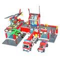 Kits de edificio modelo compatible con lego aficiones de Bomberos de La Ciudad bloques 3D modelo de construcción de juguetes Educativos para niños