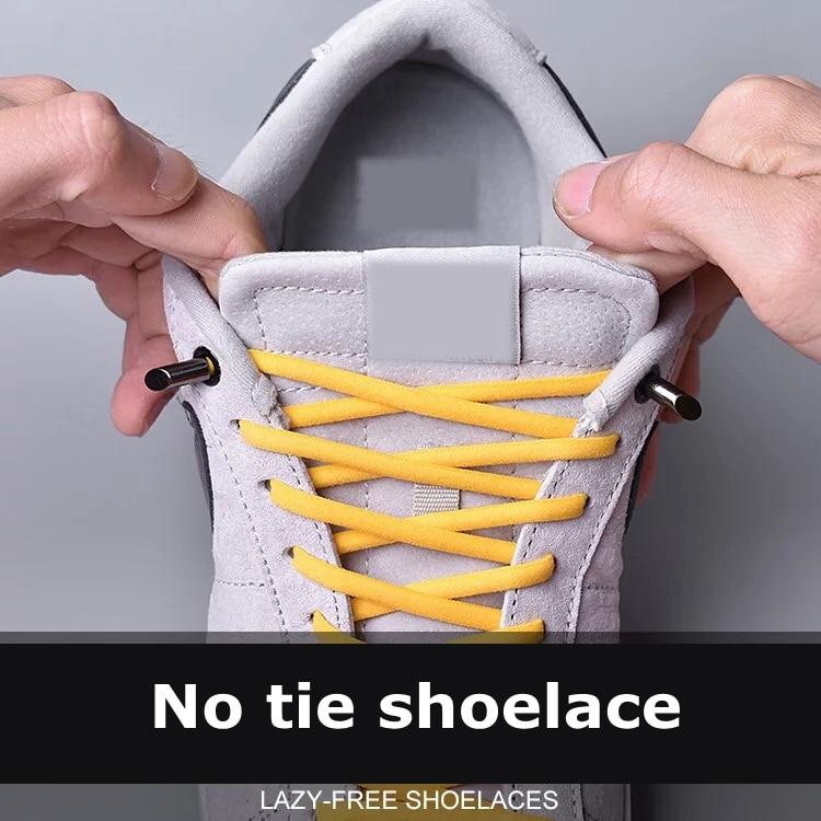 1Pair Solid Color Semicircle Shoelaces Elastic Lace No Tie Shoe Laces Kids Adult Quick Lazy Sneakers Shoelace Shoe Laces Strings