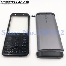 الأصلي لنوكيا 230 جديد كامل كامل موبايل هيكل للهاتف الغطاء + الإنجليزية لوحة المفاتيح شعار