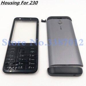 Image 1 - Ban đầu Cho Nokia 230 New Full Hoàn Chỉnh Điện Thoại Di Động Nhà Ở Cover + Tiếng Anh Bàn Phím + Logo