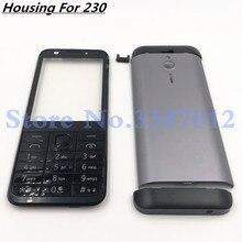 Original For Nokia 230 New Full Complete Mobile Phone Housing Cover Case+English Keypad+Logo