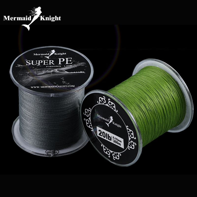 MermaidKnight 300 M / 500 M 8 licin Pancing Superline untuk Pike Carp Fishing Game Predator Pertandingan Laut Kasar