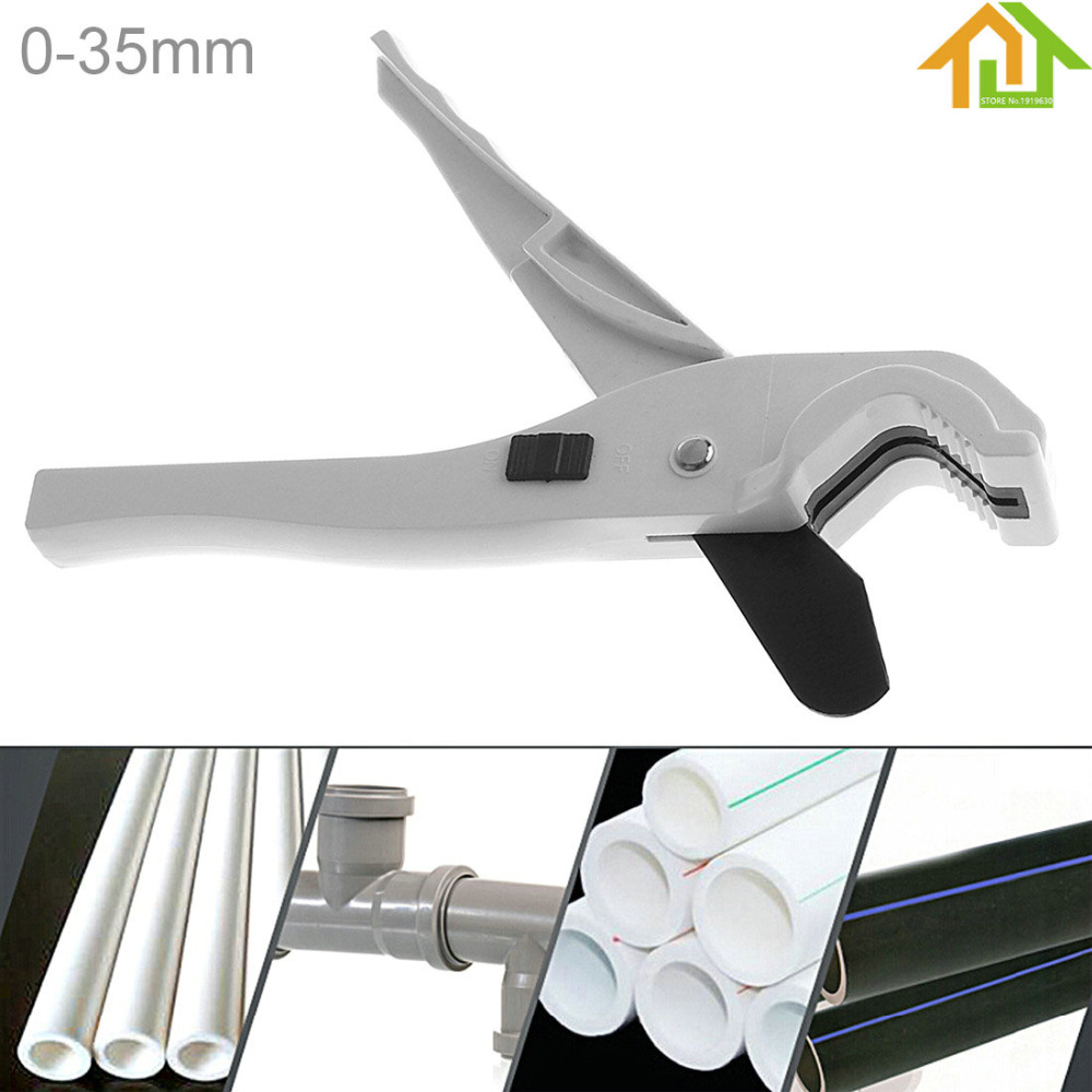 Aluminum Alloy 9 Inch PVC/PPR Tube Cutter Scissors with Switch and Fixed Bracket for Plastic Pipe/Other Material Cutting
