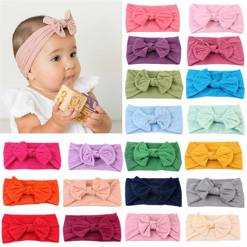 Baby Headbands Knotted Girls Turban Soft Cotton Floral Hairbands For Newborn Infant Toddler Headwraps