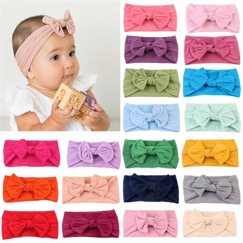 Baby Girls Newborn Chiffon Bowknot Headbands Hairband Hair Bow Pretty Hairwear