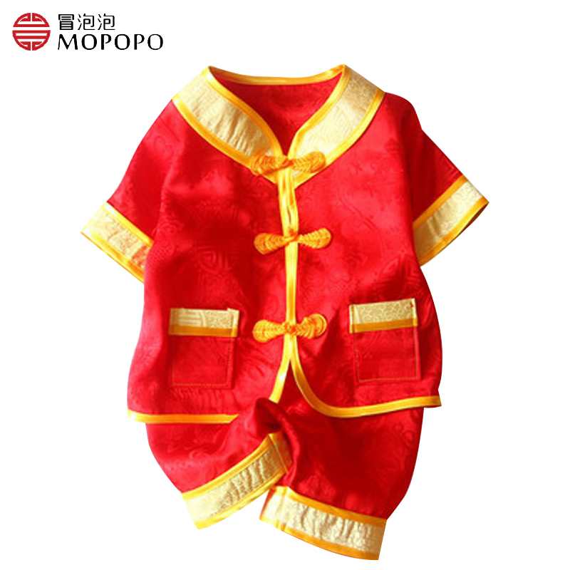 где купить Mopopo Baby Girl Clothing Sets Autumn Chinese Style 2016 Mulberry Silk Short Sleeve NewBorn Girl Outfit Cute Infant Girl Clothes по лучшей цене