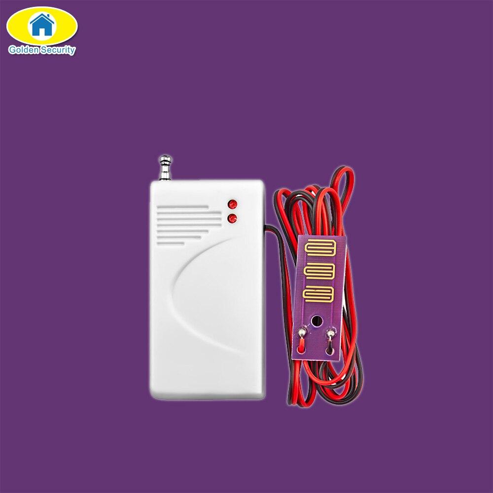 D'or de Sécurité 433 MHz Sans Fil Détecteur de fuite D'eau Détecteur D'intrusion pour Home Security GSM Alarme de Fuite D'eau Du Système Detecto