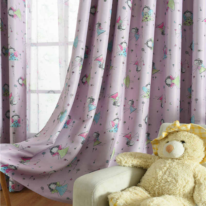Pink Eco-friendly Fabric Cartoon Curtain Window Curtain Baby Curtain Kids Curtain for Children Princess Bedroom Horse WP114 *30