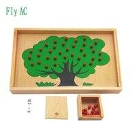 חומר עץ תפוח עץ מונטסורי למידה מוקדמת חינוך מונטסורי צעצוע צעצועי מתמטיקה תיבת עץ אשור