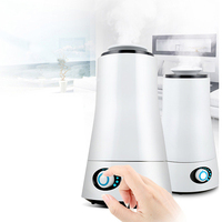 2 5L Air Humidifier Ultrasonic Essential Oil Diffuser Aroma Negative Ion Two Mist Outlet Humidifier Electric