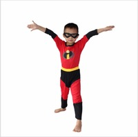 Boy Halloween Party Costume 3 7 Ages Kid The Incredibles Cosplay Children Role Playing Clothing Long