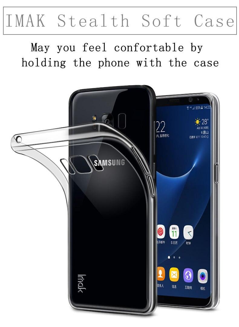 Для Samsung <font><b>Galaxy</b></font> S8 случае Марка IMAK Супер-тонкий Stealth HD прозрачный силиконовый чехол для телефона для Samsung s8 плюс бампер