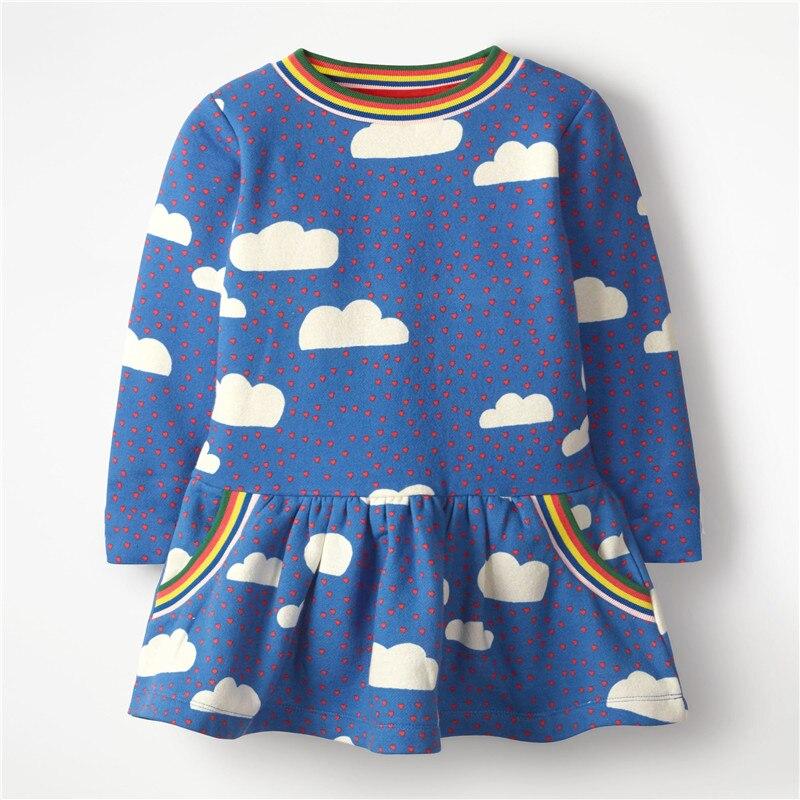Princess Christmas Girls Dresses Tutu Party Cotton Clothing With Cloud Print New Design Children Girls Fashion Holiday Dresses handbag
