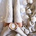 Feitong Socking Caliente Del Invierno Para Las Mujeres Bolas de Punto de Arranque Largo calcetines Sobre La Rodilla de Alta Del Muslo Medias Sobre La Rodilla Calcetines Altos coreano