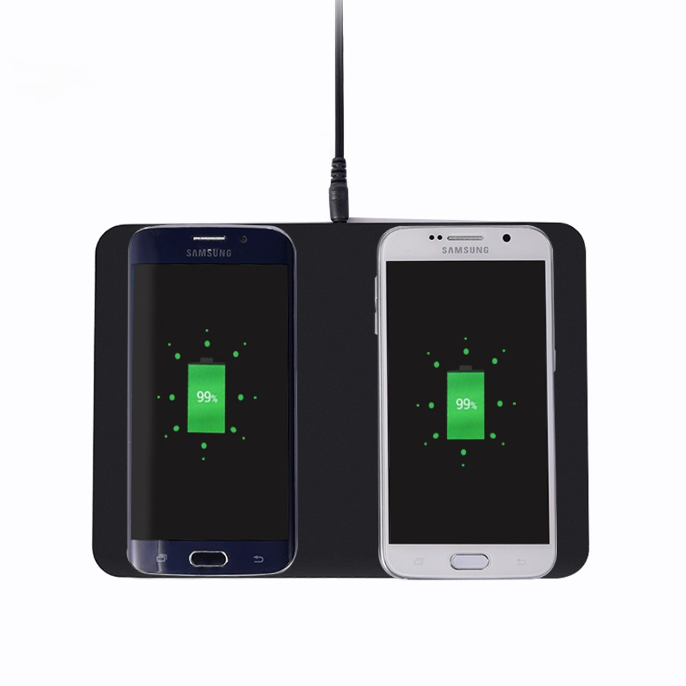 Qi Ladestation Itian Q300 Dual Qi Wireless Ladegerät Pad Transmitter Ladestation Für Iphone 8 X Samsung Note8 S8 S8 S7 Rand S7 Note5 S6