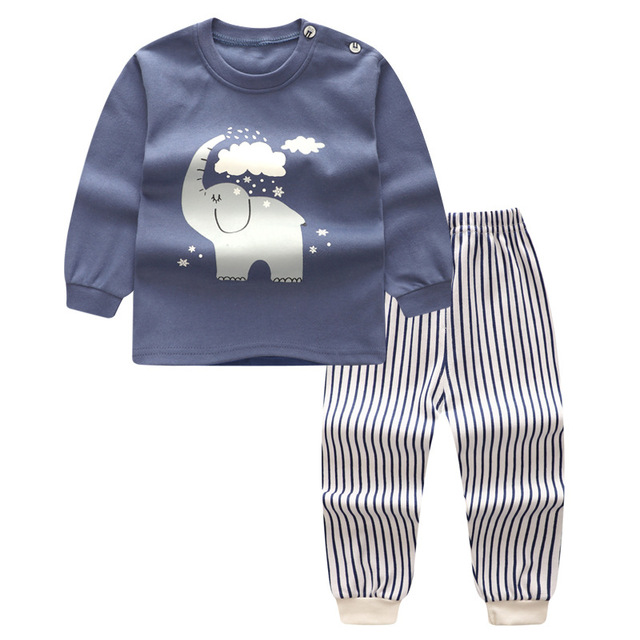 9c0302094fcbb Infantile bébé garçon vêtements ensemble à manches longues enfant en bas  âge fille tenues pyjamas ensemble