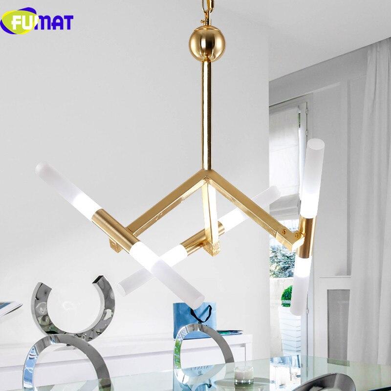 FUMAT Moderne Kunst Pendelleuchte Leuchte Kreative Ast Haning Lampe Villa Hotel Wohnzimmer LED Gold
