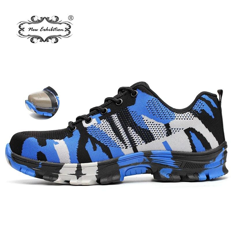 1a7c8e4e7 Nueva exposición de camuflaje militar botas de trabajo de acero al aire  libre tapa del dedo del pie del ejército a prueba de protección hombres  zapatos de ...