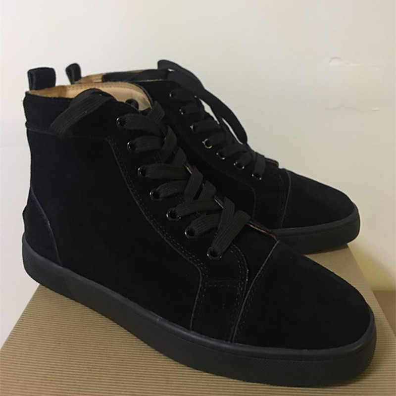 FNJACK Fashion Louis Orlato Multi Suede Sneaker Hi-top Flat Red - Kasut lelaki - Foto 2