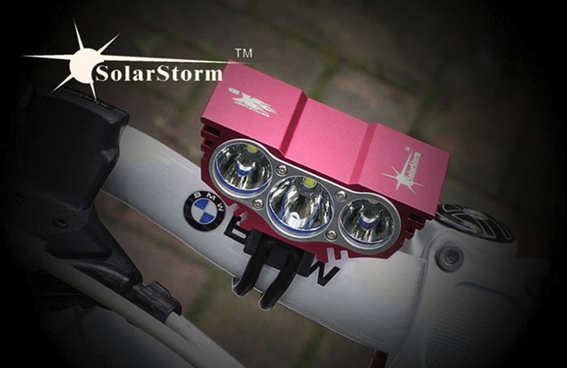 SolarStorm X3 led bicycle light 6000 Lm 3T6 XM-L T6 LED bike light lamp Front headLight + 8.4V 18650 Battery Pack + charger