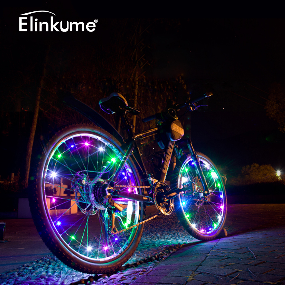 20 LEDs 2M Bicycle String Light Wheels Multicolor Twinkle Light Waterproof Bike Lights Cycling String Wire Lamp LED Outdoor Lamp|led lighting outdoor lighting|2m 20 led|20 light - title=