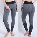 2017 New Women Sexy Cropped Leggings High Waist Elastic Wicking Force Exercise Female Elastic Activity Leggings Slim Trousers26C