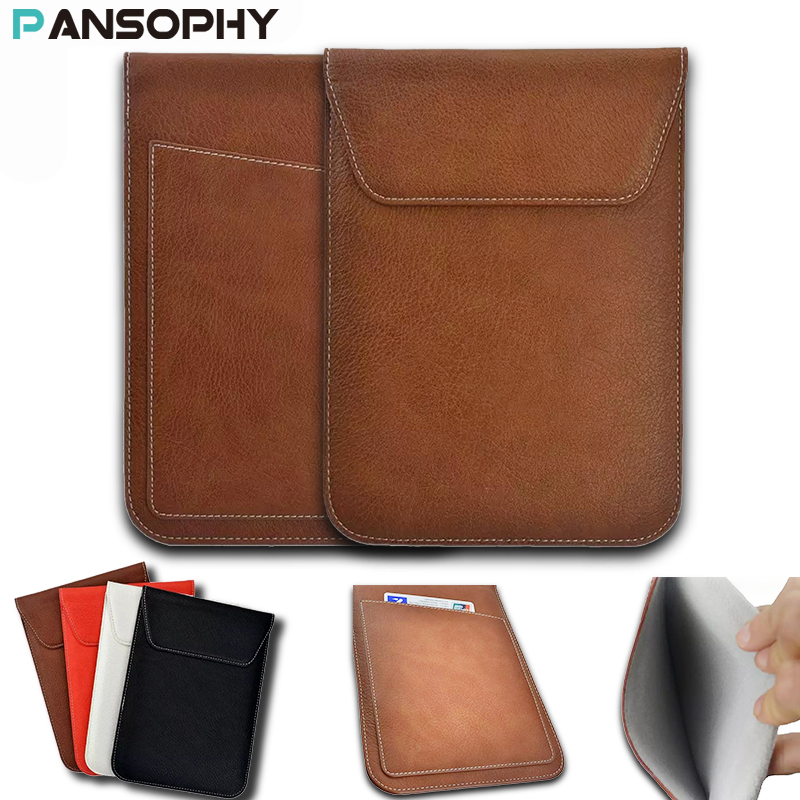 7-8'' Universal PU Leather Sleeve Pouch Bag Case for iPad Mini 2 3 4 Bag Samsung Tab 3 4 Tablet Cover for Lenovo Tab3 8.0 Case pu leather case for ipad mini 1 2 3 7 8 inch universal tablet cover for ipad mini 4 sleeve for samsung tab 3 4 t110 t230 t350