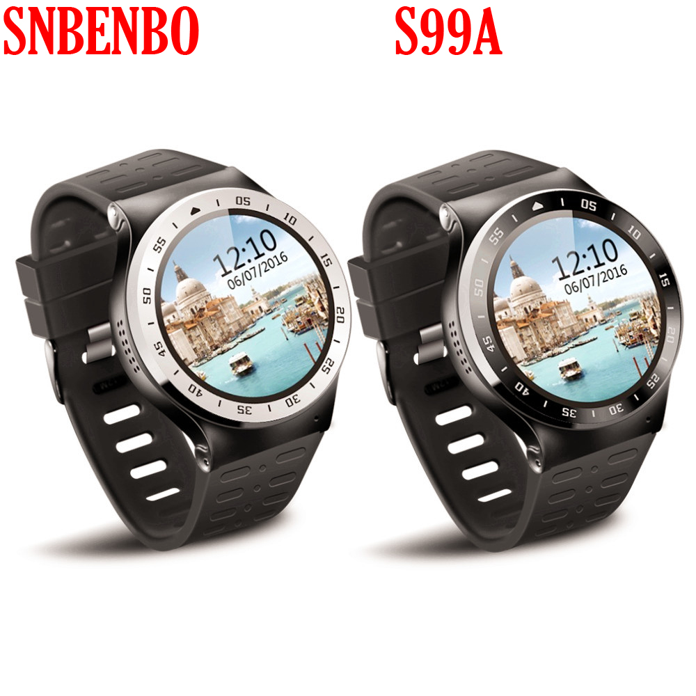SUNBENBO S99A Bluetooth Version 4.0 Smartwatch 3G 1.33 inch Round Screen Support SMS, MMS ect. Android 5.1 WiFi GPS with Camera 16 ports 3g sms modem bulk sms sending 3g modem pool sim5360 new module bulk sms sending device