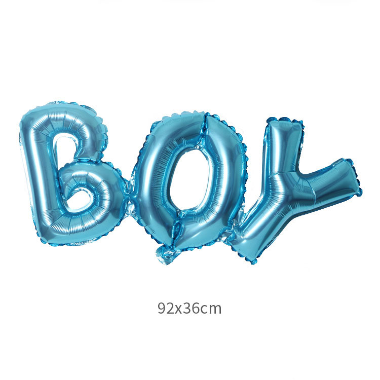 Baby Shower Foil Balloons Its a Boy Girl Gender Reveal Party Decorations Supply Air Globles Balon in Ballons Accessories from Home Garden