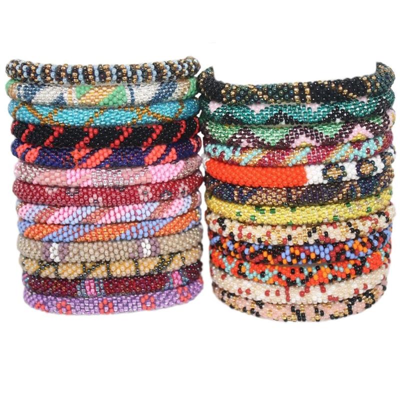 15pcs Nepal bracelets Czech bead bracelet Fashion Handmade bracelet best unique gifts
