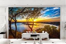 Wallpaper wall 3 d sunny sunset beautiful 3d photo wallpaper papier peint mural on the Vinyl