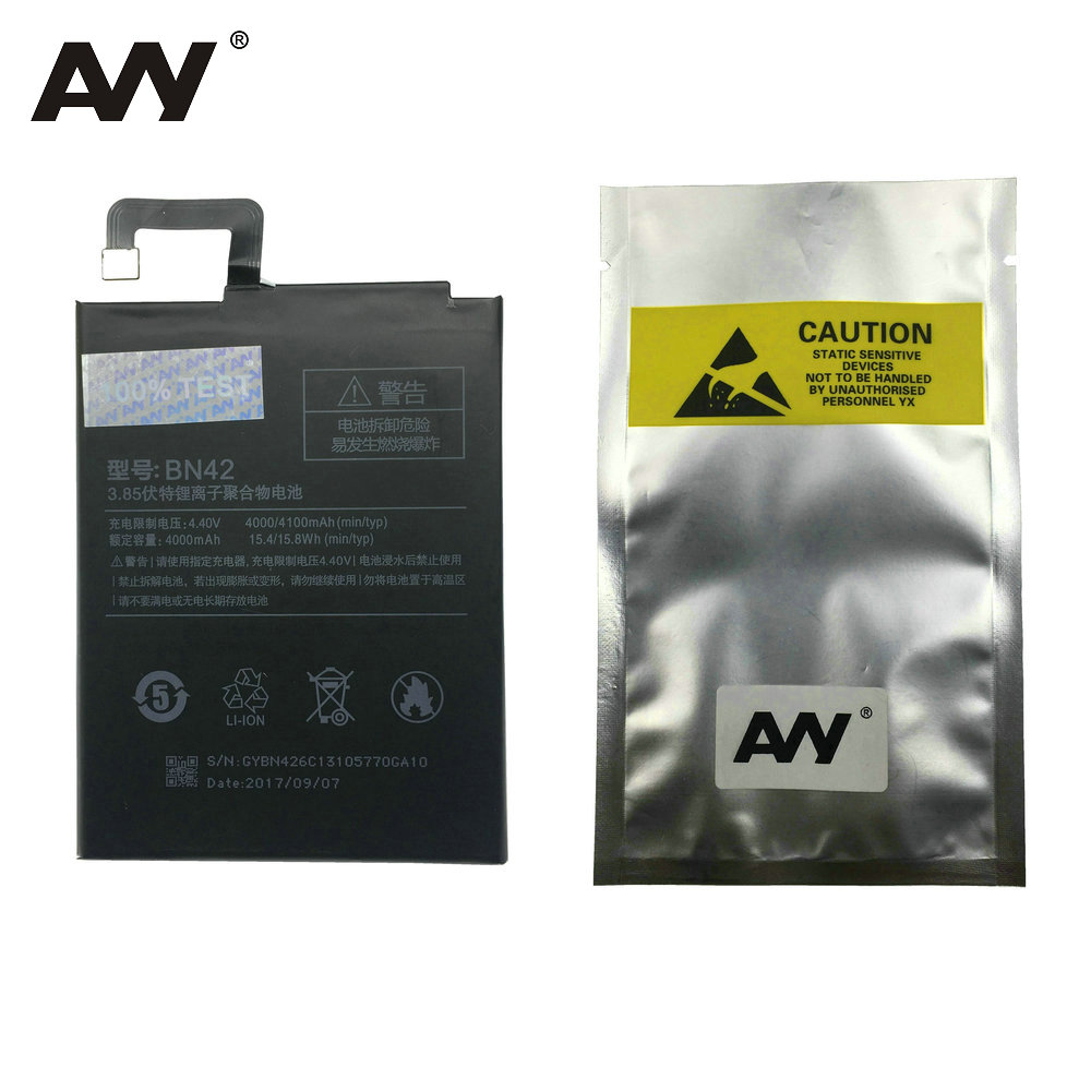 AVY Battery BN42 For Xiaomi Redmi 4 Hongmi 4 2G RAM 16G ROM Mobile Phone Lithium-ion polymer Rechargeable Batteries 100% Test